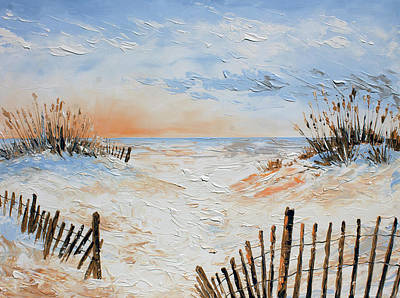 Painting - Sand Fences by William Love