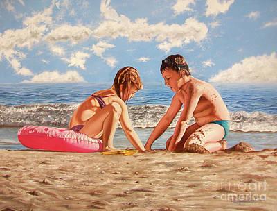 Painting - Sand Grains - Granos De Arena by Rezzan Erguvan-Onal