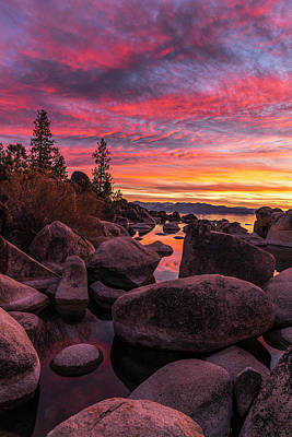 Sand Harbor Beach Art Print