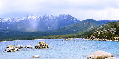 Photograph - Sand Harbor Boulders Panorama  by Brent Dolliver