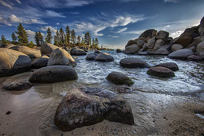 Sand Harbor II Art Print by Rick Berk