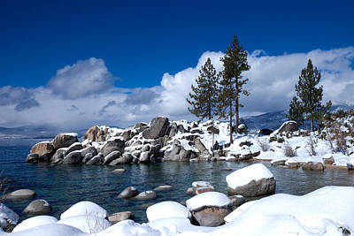 Photograph - Sand Harbor In Winter by Vinnie Oakes