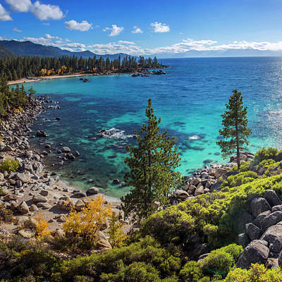 Photograph - Sand Harbor Lookout By Brad Scott - Square by Brad Scott