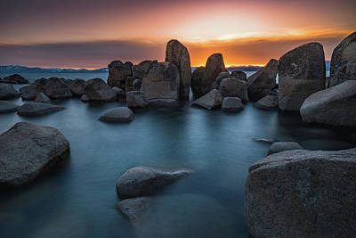 Photograph - Sand Harbor Sunset by Alpha Wanderlust