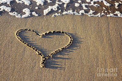 Photograph - Sand Heart by Alice Cahill