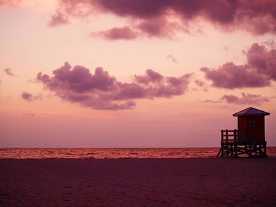 Sand Key Sunset Print by Milton Brugada