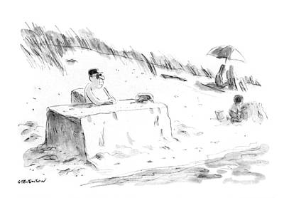 Drawing - Sand Office by James Stevenson
