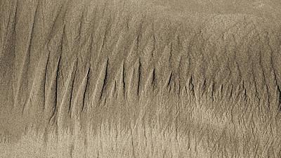 Sand Patterns On The Beach 3 Art Print by Steven Ralser