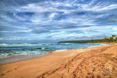 Photograph - Sand People North Shore Landscape Oahu Hawaii Collection Art by Reid Callaway