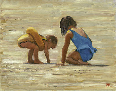 Sand Play Art Print by John Reynolds