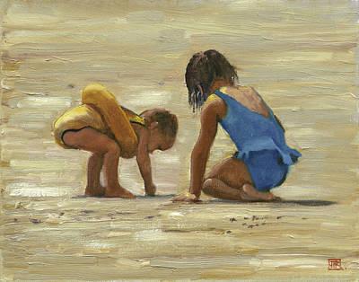 Sand Play Art Print