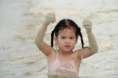 Photograph - Sand Play by Michelle Meenawong
