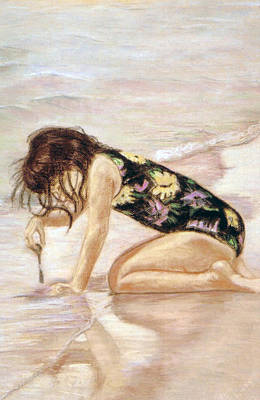 Sand Puddles Art Print by Gladiola Sotomayor