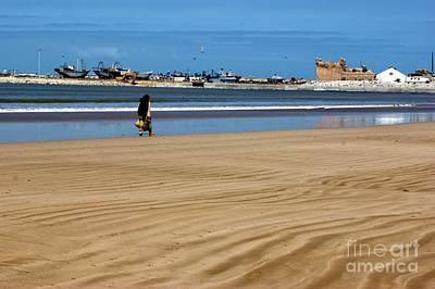 Photograph - Sand Ripples In Essaouira, Morocco by David Birchall