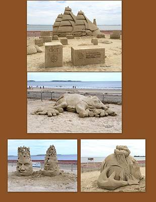 Photograph - Sand Sculpture Collage by Caroline Stella