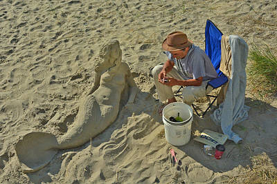 Photograph - Sand Sculpture by Jack Moskovita