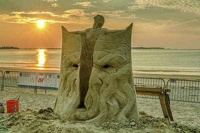 Photograph - Sand Sculpture Sunrise by Mike Ste Marie