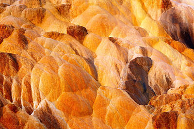 Mammoth Hot Springs Photograph - Sand Sculpture by Todd Klassy