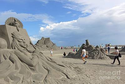 Photograph - Sand Sculptures On Chijin Island by Yali Shi
