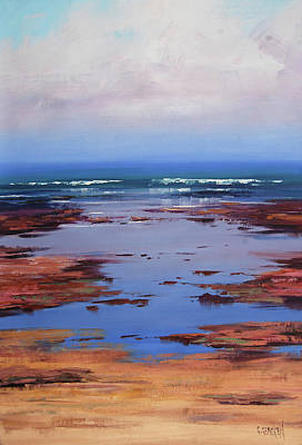 Impressionist Beach Painting - Sand Sea And Sky by Graham Gercken