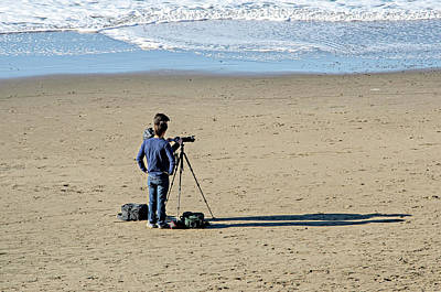 Photograph - Sand, Sea, Shadows, Sun And Photographers by David Lawson