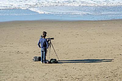 Photograph - Sand, Sea, Shadows, Sun And Photographers by David Lawson