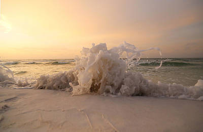 Photograph - Sand Splash by Jim Clark