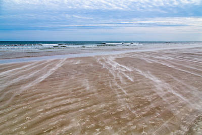 Sand Swirls On The Beach Art Print by John M Bailey