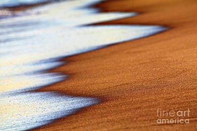 Abstract Patterns Photograph - Sand And Waves by Tony Cordoza