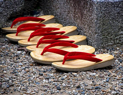 Photograph - Sandals - Kyoto Japan by Waterdancer