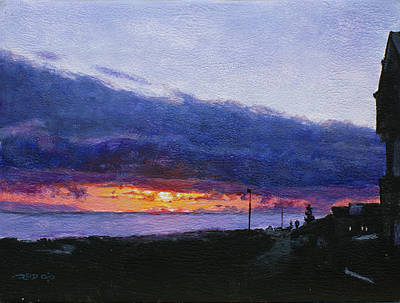 Painting - Sandbaai Sunset by Christopher Reid