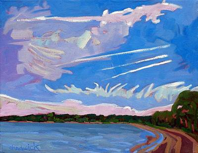 Bold Painting - Sandbanks Holiday Sky by Phil Chadwick