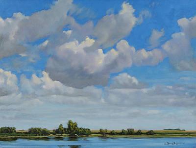 Sandbar Slough July Skies Art Print