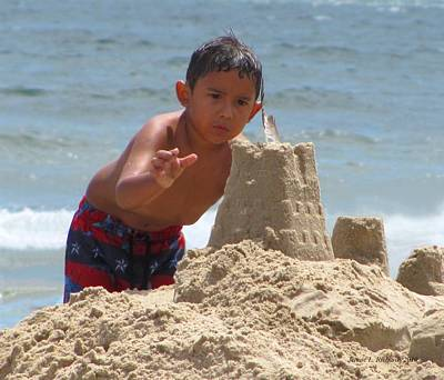 Photograph - Sandcastle Boy by Jennie  Richards