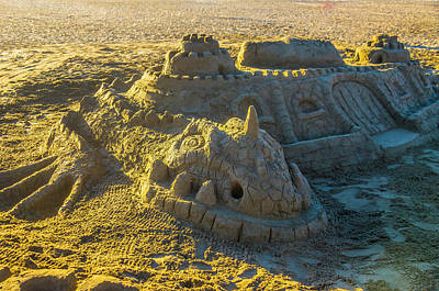 Sandcastles Photograph - Sandcastle Dragon by Garry Gay