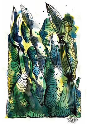 Drawing - Sandcastle by Julia Zoellner