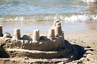 Sandcastles Photograph - Sandcastle  by Lisa Knechtel