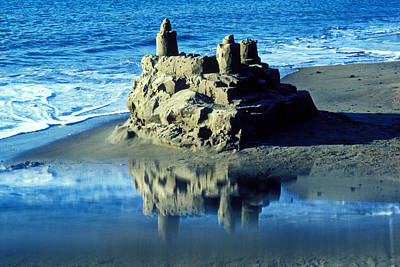 Sandcastles Photograph - Sandcastle On Beach by Garry Gay