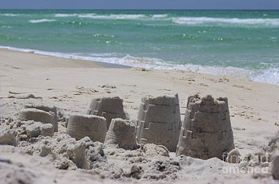 Photograph - Sandcastles by Karen Adams