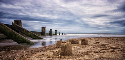 Water Play Photograph - Sandcastles by Martin Newman