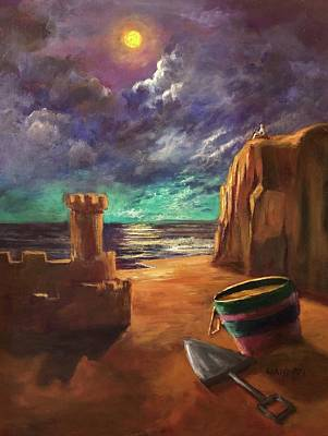 Painting - Sandcastles by Randy Burns