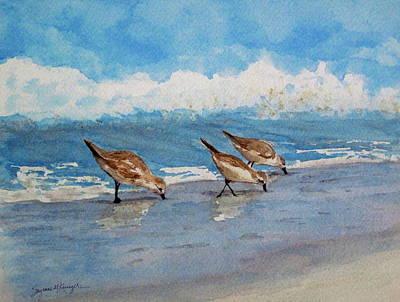 Sanderlings Art Print