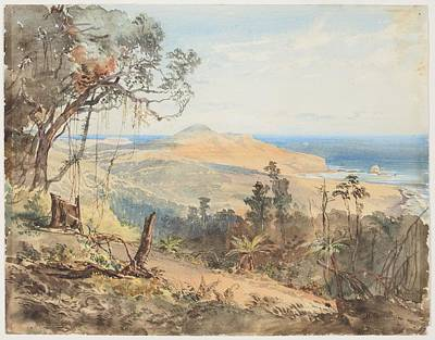 Sandfly Bay And Gull Rock Near Dunedin, 1865, By Nicholas Chevalier Art Print by Celestial Images