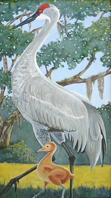 Painting - Sandhill Crane by D T LaVercombe