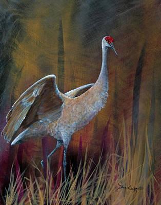 Migrating Painting - Sandhill Crane by Dee Carpenter