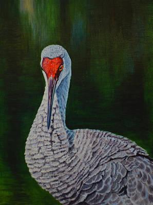 Painting - Sandhill Crane by Manuel Lopez