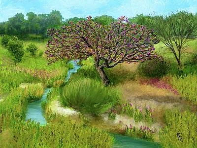 Digital Art - Sandhills Creek by Ric Darrell