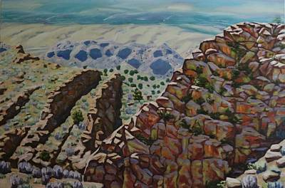 Painting - Looking Down From The Sandia Mountains by Allen Kerns