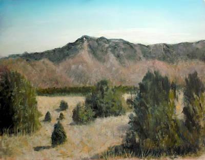 Pastel Landscape Pastel - Sandia Foothills by John De Young
