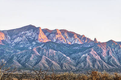 Sunrise Photograph - Sandia Gold by Mark David Gerson